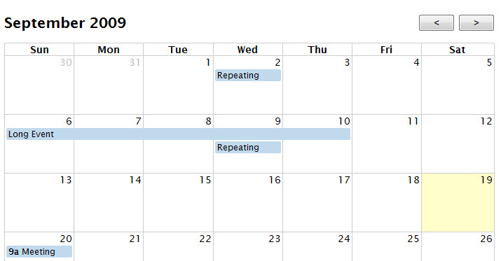 Weekly Calendar Jquery : New jquery plugins and resources september skfox